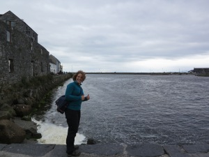 Ulrika Björkman från Finland gillar Atlantens salta vatten!