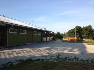 Lots of parking space and new cabins.
