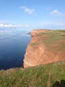 The red sandstone of Helgoland